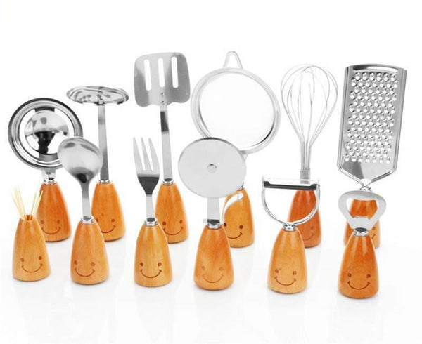 Smiley Face Cooking Utensil Set