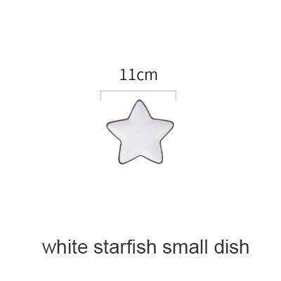 Blue Ocean Ceramic Collection - White Starfish Small - Plate