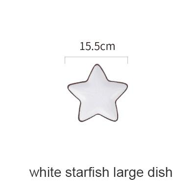 Blue Ocean Ceramic Collection - White Starfish Large - Plate