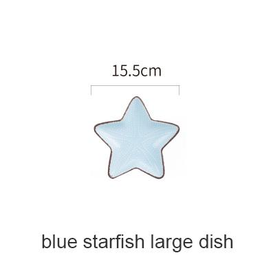 Blue Ocean Ceramic Collection - Blue Starfish Large - Plate
