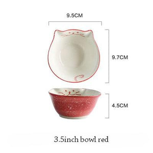 Cat Japanese Ceramic Plate & Bowl - 1 - Bowl