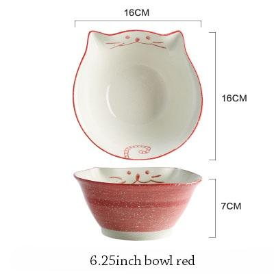 Cat Japanese Ceramic Plate & Bowl - 5 - Bowl