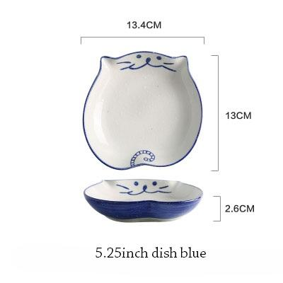 Cat Japanese Ceramic Plate & Bowl - 8 - Bowl