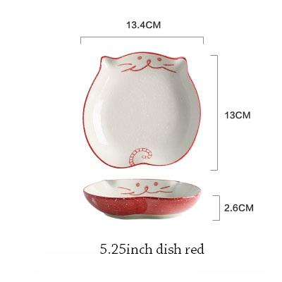 Cat Japanese Ceramic Plate & Bowl - 9 - Bowl
