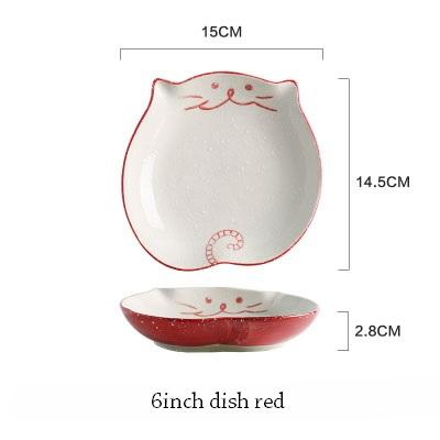 Cat Japanese Ceramic Plate & Bowl - 11 - Bowl
