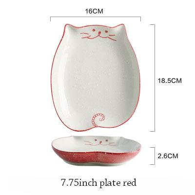 Cat Japanese Ceramic Plate & Bowl - 13 - Bowl