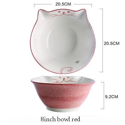 Cat Japanese Ceramic Plate & Bowl - 15 - Bowl