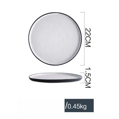 Black & White Fusion Ceramic Collection - Round Plate