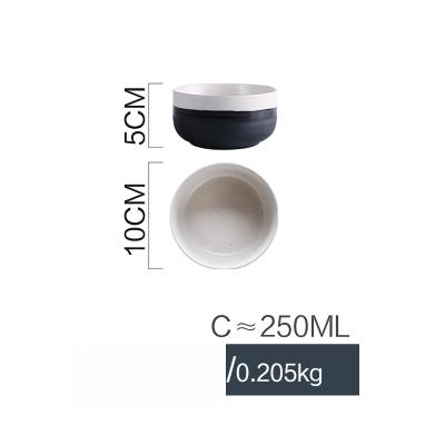 Black & White Fusion Ceramic Collection - Bowl 2