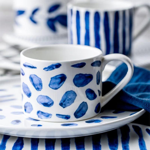 Indigo Brush Ceramic Cup - Cup & Mug