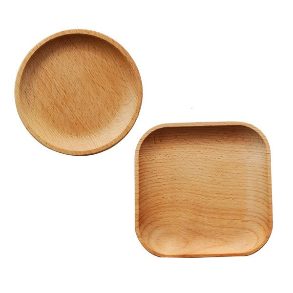 Round / Square Wooden Serving Tray - Box & Tray