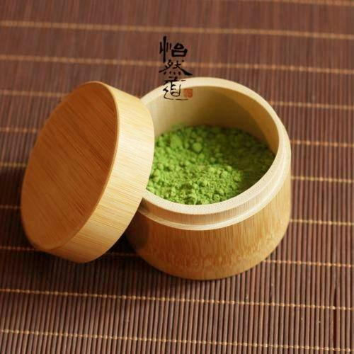 Bamboo Matcha Canister Powdered Matcha Green Tea Caddy 20G Tea Accessories