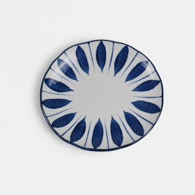 Hengfeng Japanese Style Ceramic Small Plate - Blue Leaves - Plate