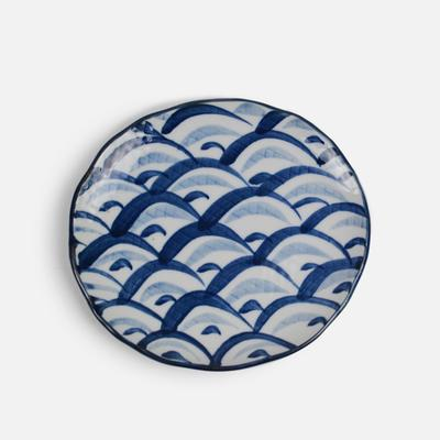 Hengfeng Japanese Style Ceramic Small Plate - Blue Wave - Plate