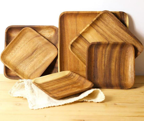 Rectangular Wooden Food Plate - Plate