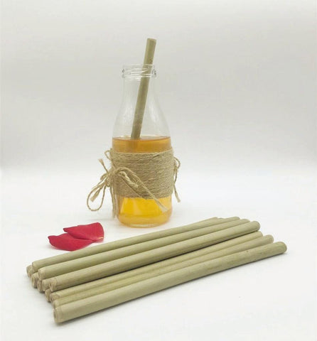 (100 Pcs/ Lot) 100% Natural Bamboo Drinking Straw - 17.5Cm 6.8Inch Straw - Other