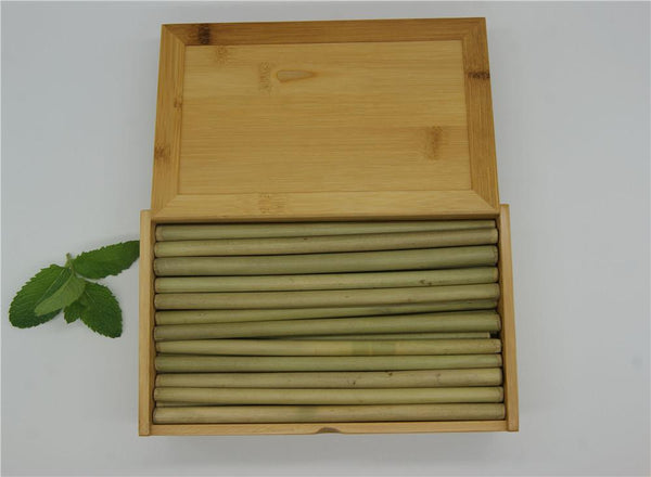 (100 Pcs/ Lot) 100% Natural Bamboo Drinking Straw - Other