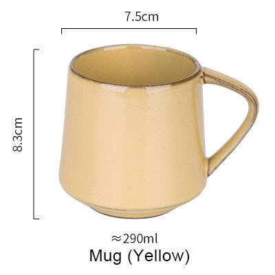 Nordic Style Retro Kiln Glazed Coffee Mug - Yello - Cup & Mug