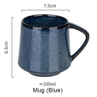 Nordic Style Retro Kiln Glazed Coffee Mug - Blue - Cup & Mug