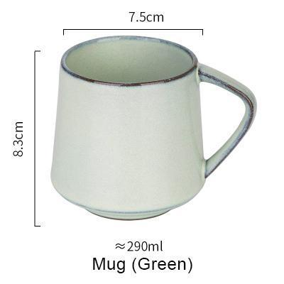 Nordic Style Retro Kiln Glazed Coffee Mug - Green - Cup & Mug