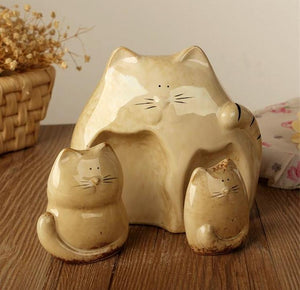 3pcs/Set Lovely Cat Miniature Home Decor