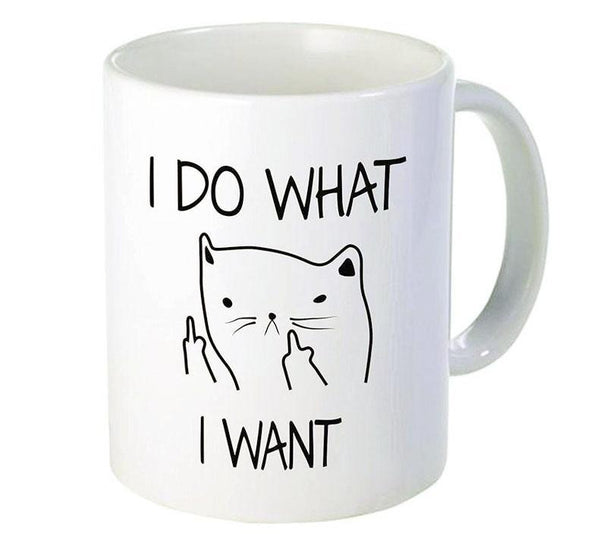 Cat Attitude I Do What I Want Ceramic Mug - Cup & Mug