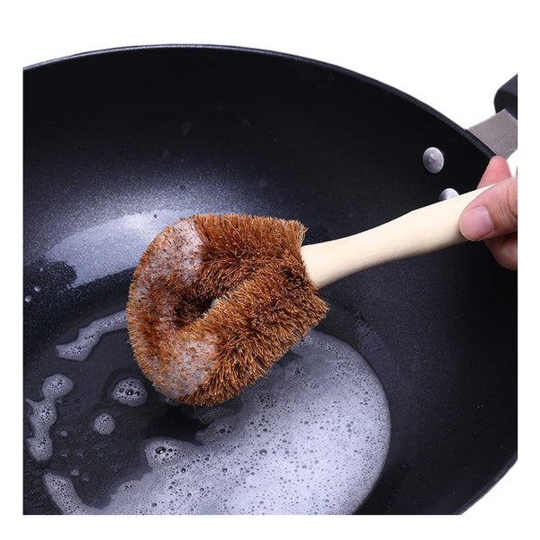 Coconut Non-stick cleaning brush