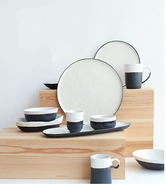 Black & White Fusion Ceramic Collection