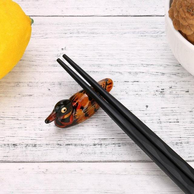 Japanese Style Wooden Chopstick Rest (1 Pc) - China / A - Other