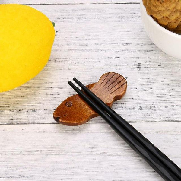 Japanese Style Wooden Chopstick Rest (1 Pc) - China / G - Other