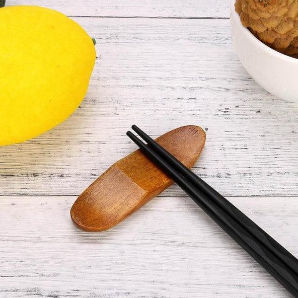 Japanese Style Wooden Chopstick Rest (1 Pc) - China / I - Other