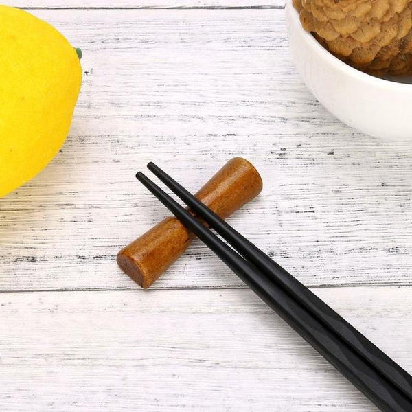 Japanese Style Wooden Chopstick Rest (1 Pc) - China / K - Other