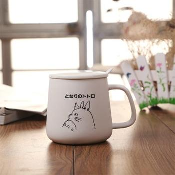 Totoro Black / White Ceramic Coffee Mug - White Totoro / 301-400Ml - Cup & Mug