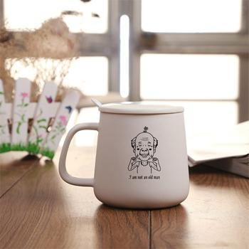 Totoro Black / White Ceramic Coffee Mug - Old Man / 301-400Ml - Cup & Mug