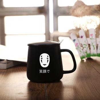 Totoro Black / White Ceramic Coffee Mug - Black No-Face / 301-400Ml - Cup & Mug