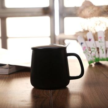 Totoro Black / White Ceramic Coffee Mug - Plain Black / 301-400Ml - Cup & Mug