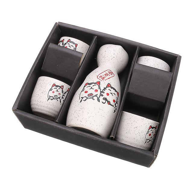 Japanese Design Neko Chan Sake Set - Drink Set