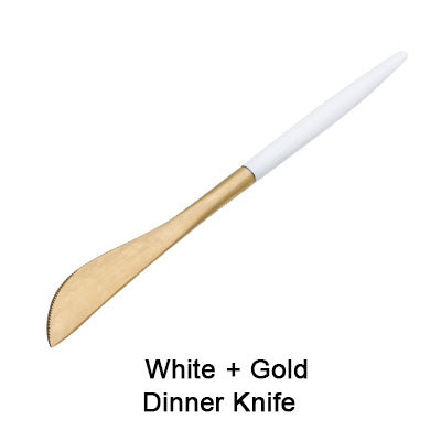 Stainless Steel GW Cutlery Collection (Gold-White)