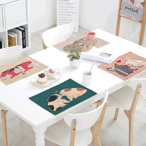 Funny Illustration Table Placemats
