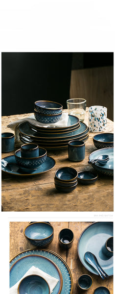 Fallin' Blue Ceramic Tableware