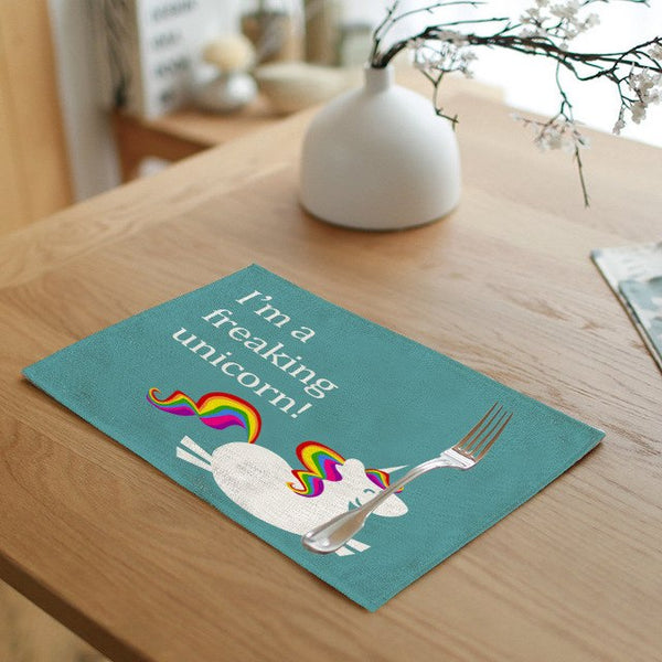 Unicorn Linen Placemat