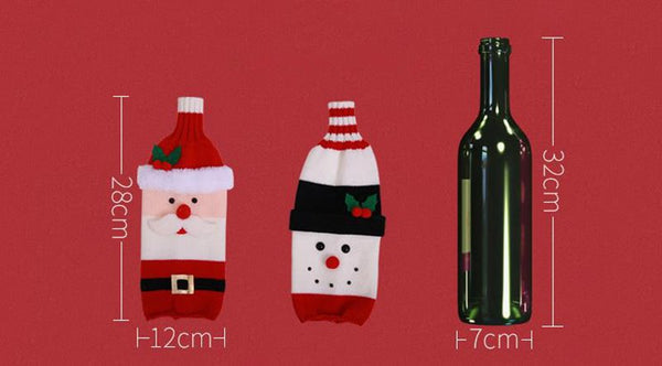 Santa Clause Wine Bottle for Holiday Decoration