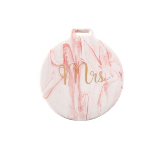Pink Marble Coaster
