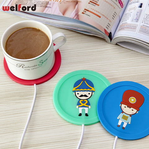USB Heating Coaster Coffee Tea Cup Mug Warmer Mat Pad