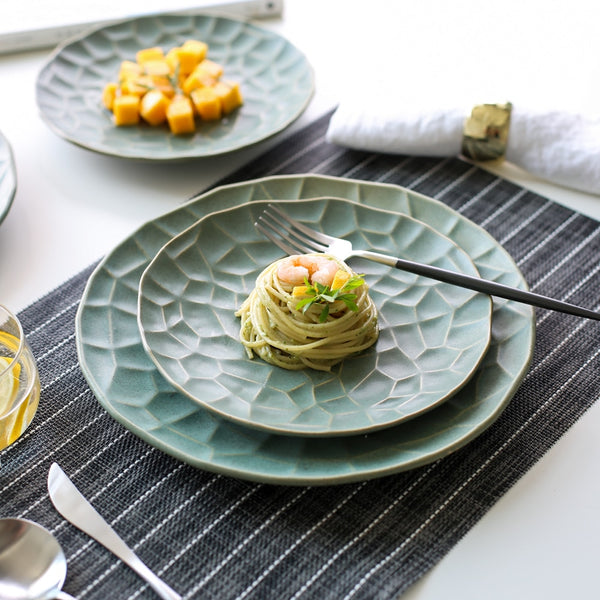 Darum Green Ceramic Plates