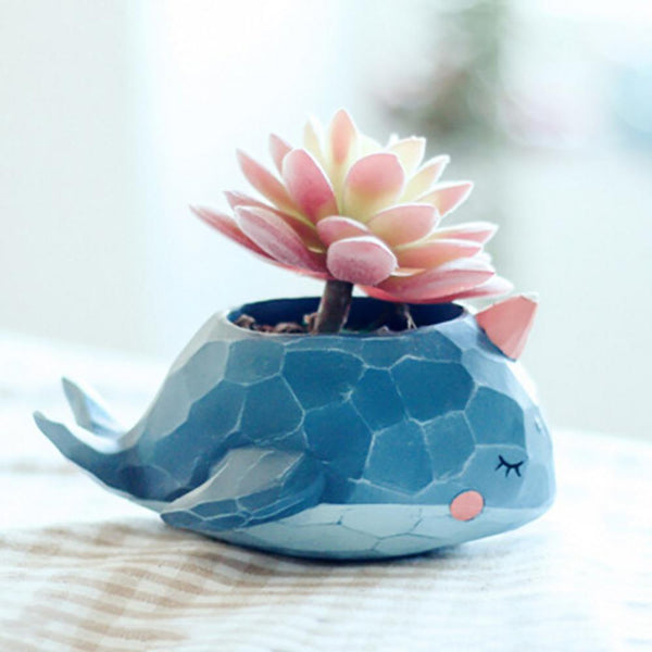 Cute Animal Mosaic Plant Pot