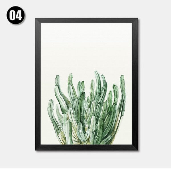 Minimalistic Plant Leaves Art Prints