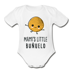 Mami's Little Buñuelo Onesie - white