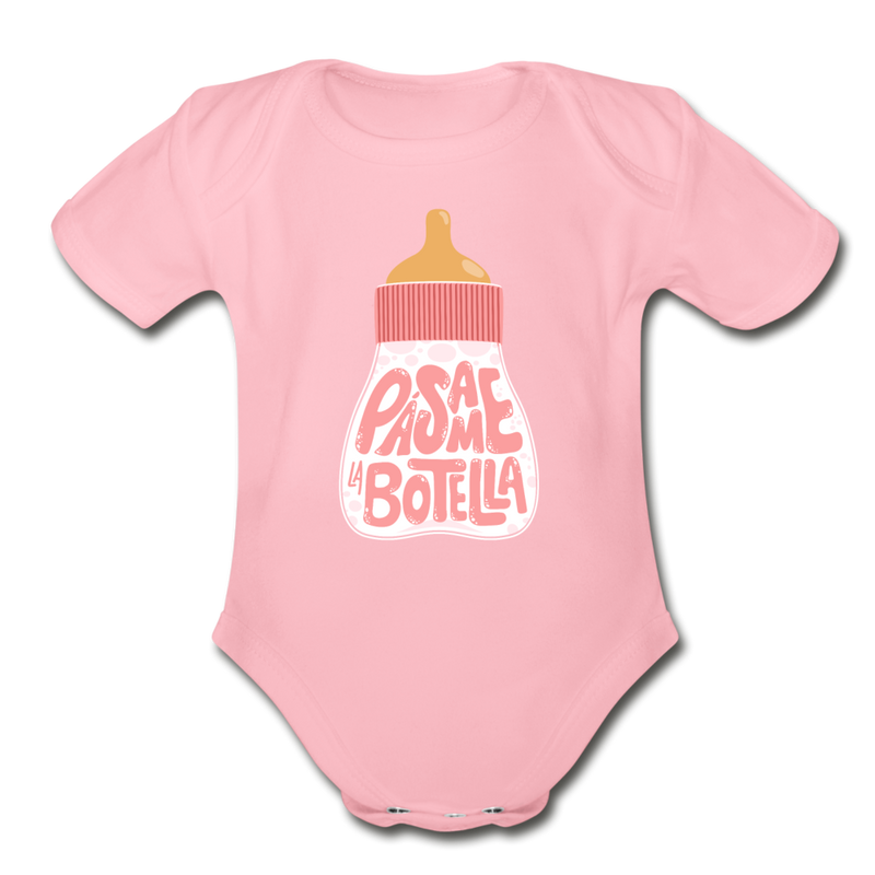 ¡Pásame La Botella! Bottle Onesie Pink - light pink