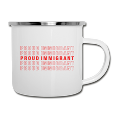 Proud Immigrant Retro Mug - white